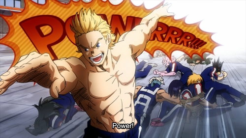 Third-year U.A. student, Mirio Togata, defeats Class 1-A