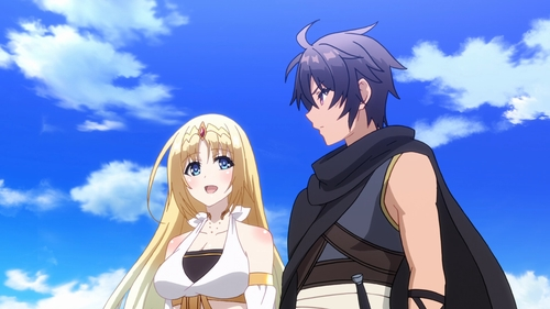 Yuuto Suou and Felicia from the anime The Master of Ragnarok and Blesser of Einherjar