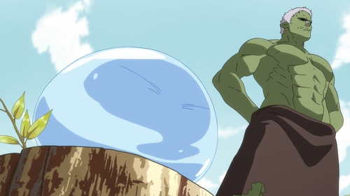 Rimuru and the Hobgoblin Rigurd from the anime That Time I Got Reincarnated as a Slime