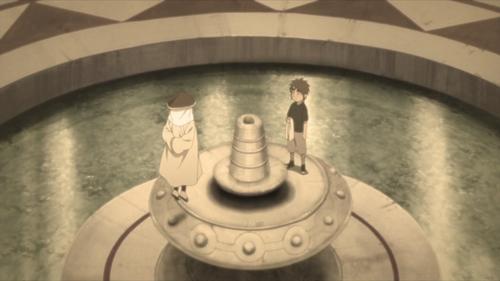 Ohnoki and the second Tsuchikage, Mu, from the anime Boruto: Naruto Next Generations