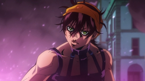 Narancia Ghirga from the anime JoJo's Bizarre Adventure Part 5: Golden Wind