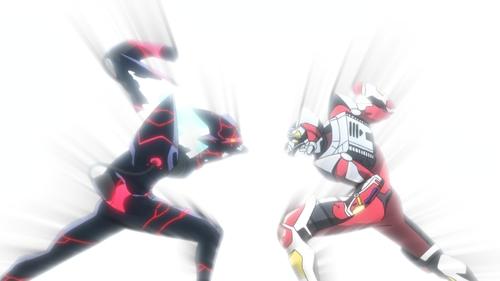 Alexis Kerib vs. Gridman from the anime SSSS.Gridman