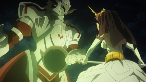 Mordred vs. Frankenstein from the anime series Fate/Apocrypha
