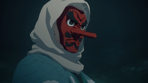 Sakonji Urokodaki from the anime series Demon Slayer: Kimetsu no Yaiba