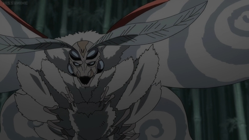 A moth demon from the anime series Dororo
