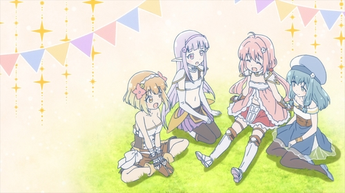 Fai, Seira, Yuusha, and Mei from the anime series Endro~!