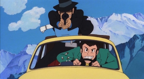 Lupin and Jigen from the anime movie Lupin III: The Castle of Cagliostro