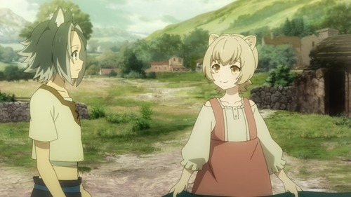 Keel and Rifana from the anime series The Rising of the Shield Hero