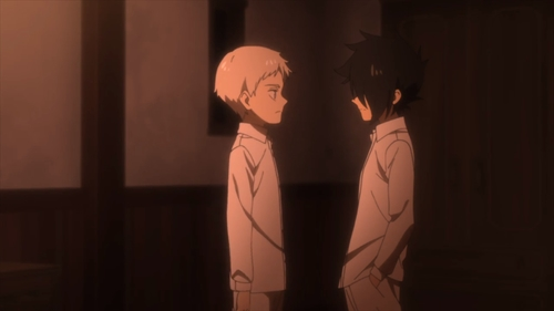 Norman and Ray from the anime series The Promised Neverland