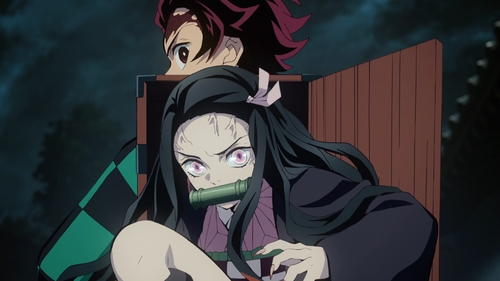 Tanjirou and Nezuko Kamado from the anime series Demon Slayer: Kimetsu no Yaiba