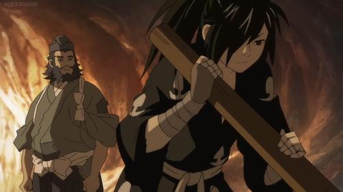 Jukai and Hyakkimaru from the anime series Dororo