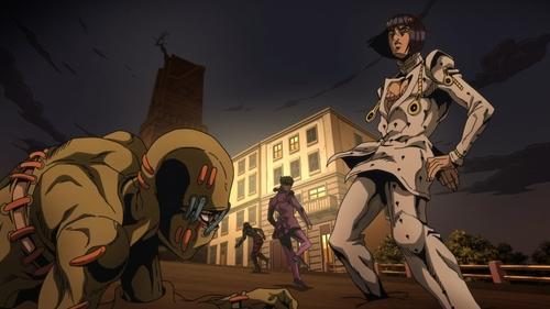 Buccellati vs. Secco from the anime series JoJo's Bizarre Adventure Part 5: Golden Wind