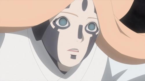 Tatsumi under the Body Possession Blood jutsu from the anime series Boruto: Naruto Next Generations