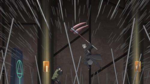 Mirai vs. Ryuki from the anime series Boruto: Naruto Next Generations
