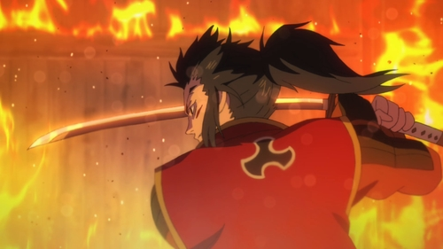 Tahoumaru fighting against Hyakkimaru from the anime series Dororo