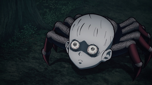 One of the human-turned-spiders from the anime series Demon Slayer: Kimetsu no Yaiba