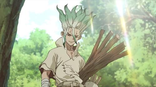 Senkuu from the anime series Dr. Stone