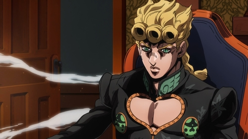Giorno as the new boss of Passione from the anime series JoJo's Bizarre Adventure Part 5: Golden Wind