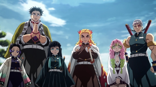 The Hashira from the anime series Demon Slayer: Kimetsu no Yaiba