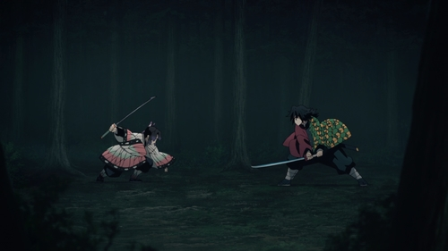 Shinobu Kochou vs. Giyuu Tomioka from the anime series Demon Slayer: Kimetsu no Yaiba