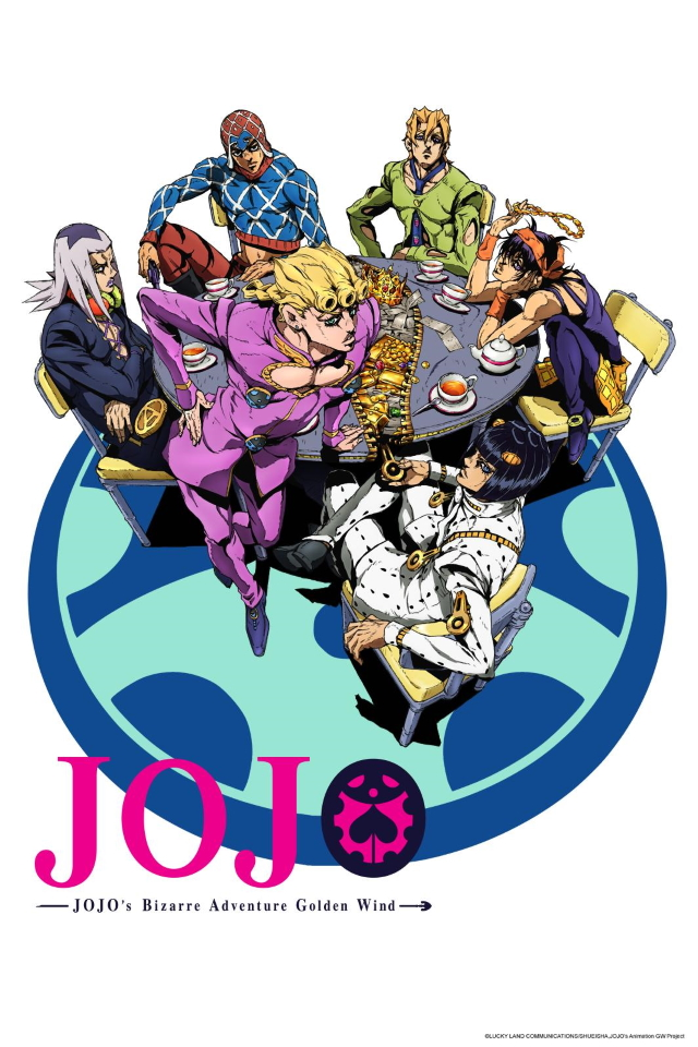 JoJo's Bizarre Adventure Part 5: Golden Wind anime series cover art