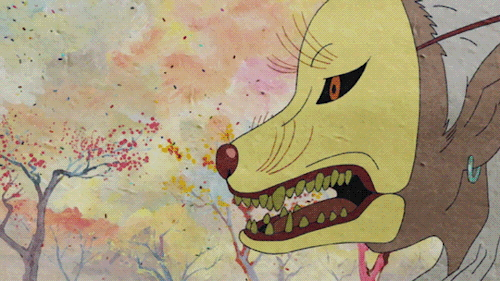 The Faceless Monster wearing a fox mask from the anime series Mononoke