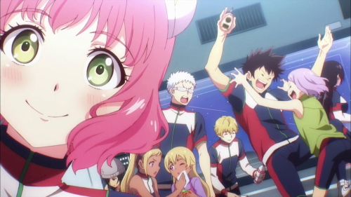 Aries Spring and the other students from the anime series Astra Lost in Space