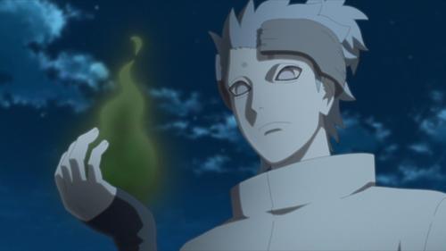 Urashiki holding Mirai's chakra from the anime series Boruto: Naruto Next Generations