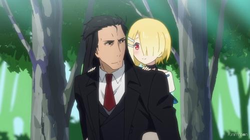 Hakuto Kunai and Aku from the anime series Demon Lord, Retry!