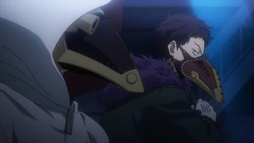 Overhaul and one of his subordinates from the anime series My Her Academia season 4