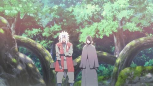 Jiraiya and Sasuke from the anime series Boruto: Naruto Next Generations