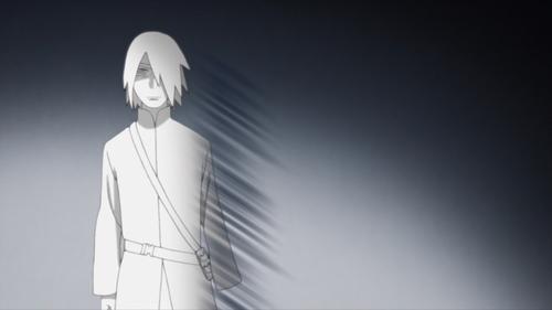 Sasuke admitting to Sakura that he's Jiraiya's biggest fan from the anime series Boruto: Naruto Next Generations
