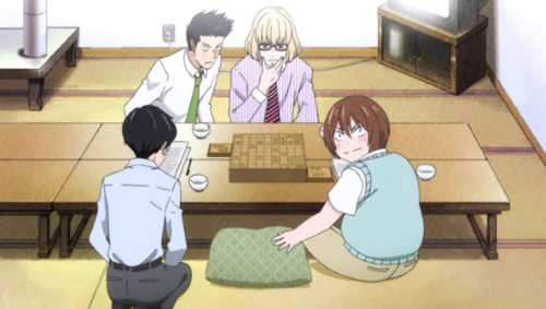 Rei Kiriyama's shogi friends from the anime series March comes in like a lion