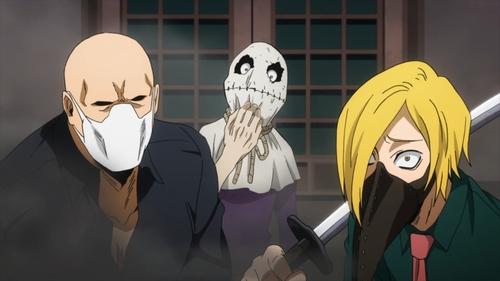 Toya Setsuno (Larceny), Yu Hojo (Crystallize), and Soramitsu Tabe (Food) from the anime series My Hero Academia season 4