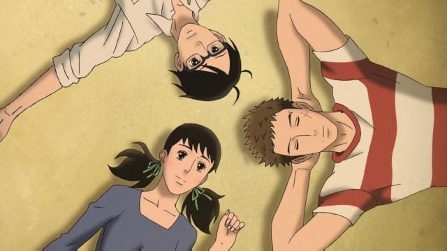 Kaoru, Sentarou, and Ritsuko from the anime series Kids on the Slope
