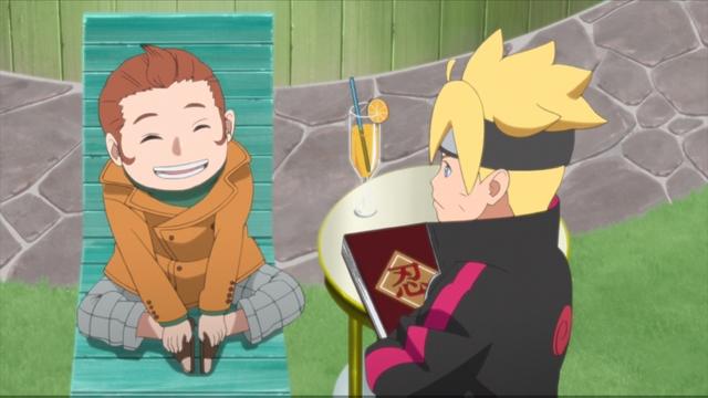 Boruto and Tento from the anime series Boruto: Naruto Next Generations