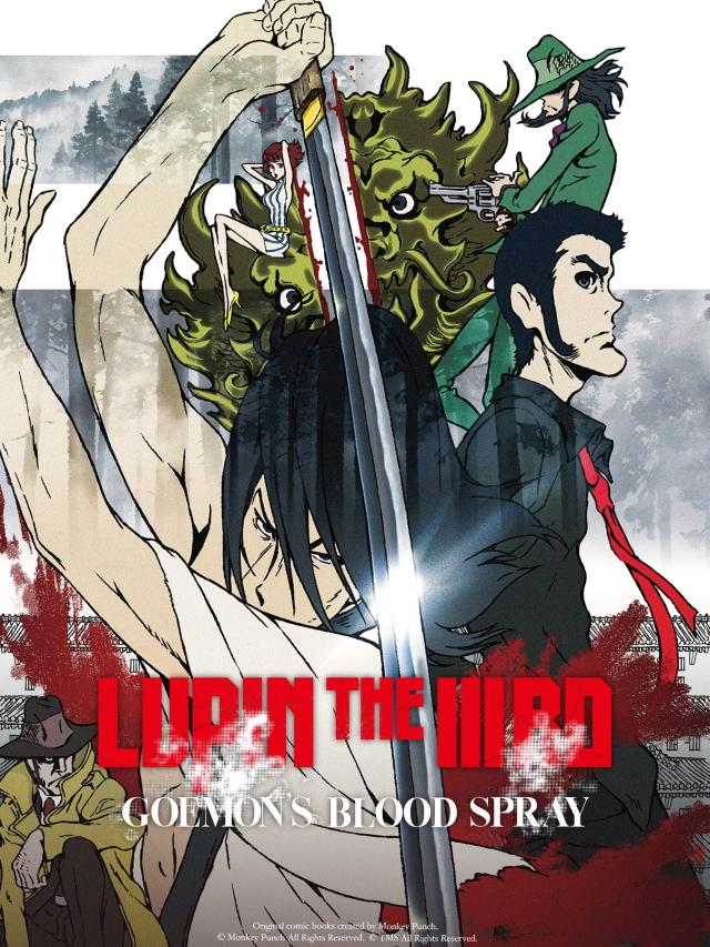 Lupin the IIIrd: Goemon's Blood Spray anime movie cover art