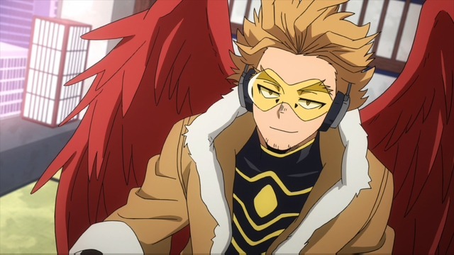 Number two hero Hawks from the anime series My Hero Academia season 4