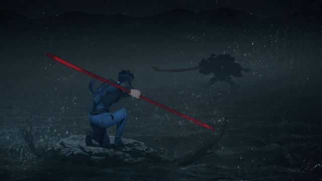 Lancer vs. Assassin from the anime movie Fate/stay night Movie: Heaven's Feel - I. Presage Flower