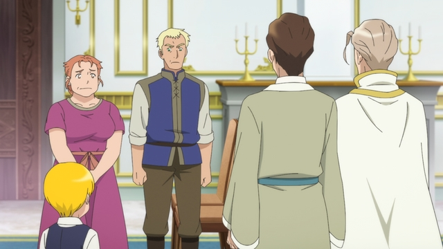 Lutz's family and the Gilberta Company coming to an agreement from the anime series Ascendance of a Bookworm season 2
