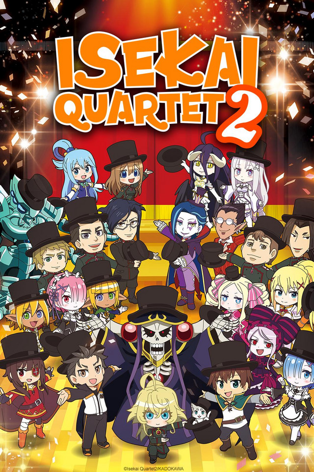 Isekai Quartet 2 anime series cover art