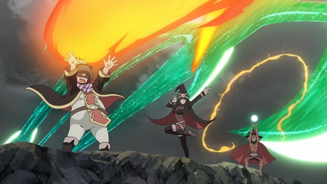 Members of the Crimson Demon Clan from the anime movie KonoSuba: Legend of Crimson