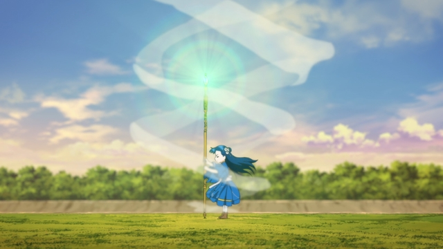 Myne performing the healing ritual from the anime series Ascendance of a Bookworm season 2