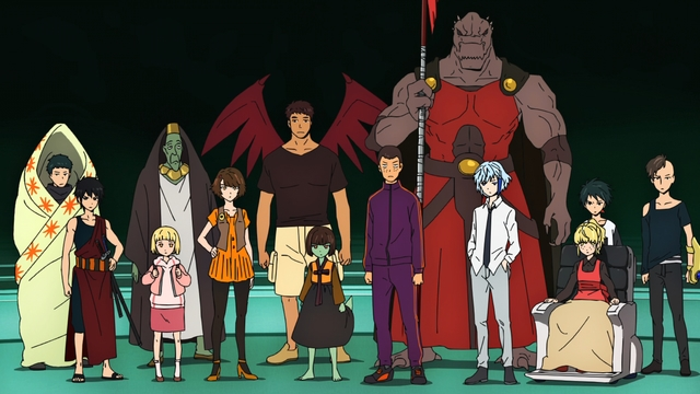 The challengers of the tower from the anime series Tower of God