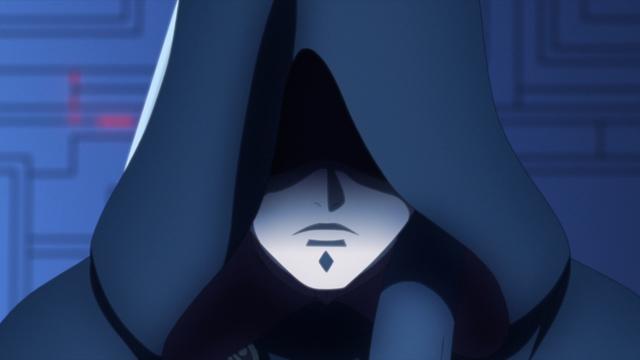 The leader of Kara from the anime series Boruto: Naruto Next Generations