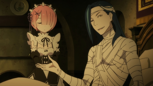 Ram and Roswaal from the anime series Re:ZERO season 2