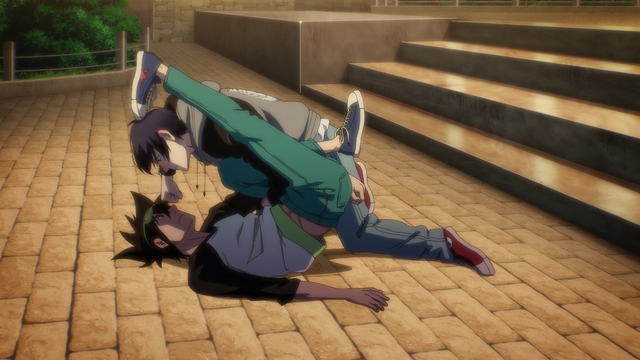 """Mori and Ilpyo """"fighting"""" from the anime series The God of High School"""