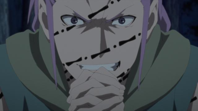 Hiruga using the Hellish Obliteration jutsu from the anime series Boruto: Naruto Next Generations