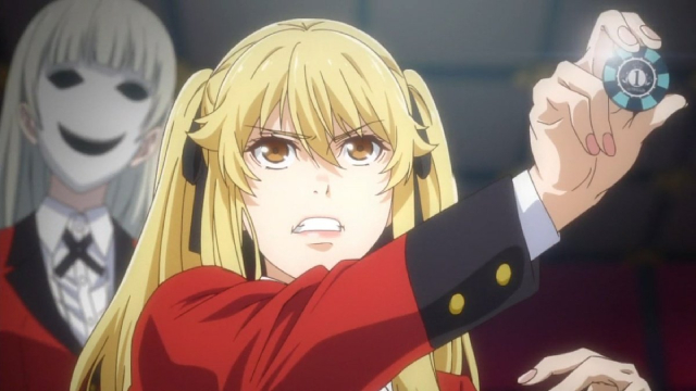 Mary Saotome and the vice president from the anime series Kakegurui××
