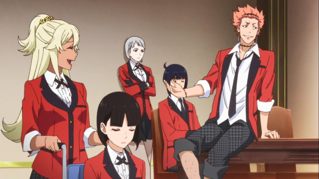 Members of the Momobami clan from the anime series Kakegurui××